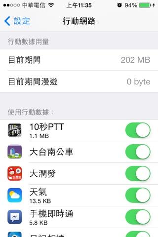 如何監測 iphone 目前使用了多少 3G 流量(行動數據)?