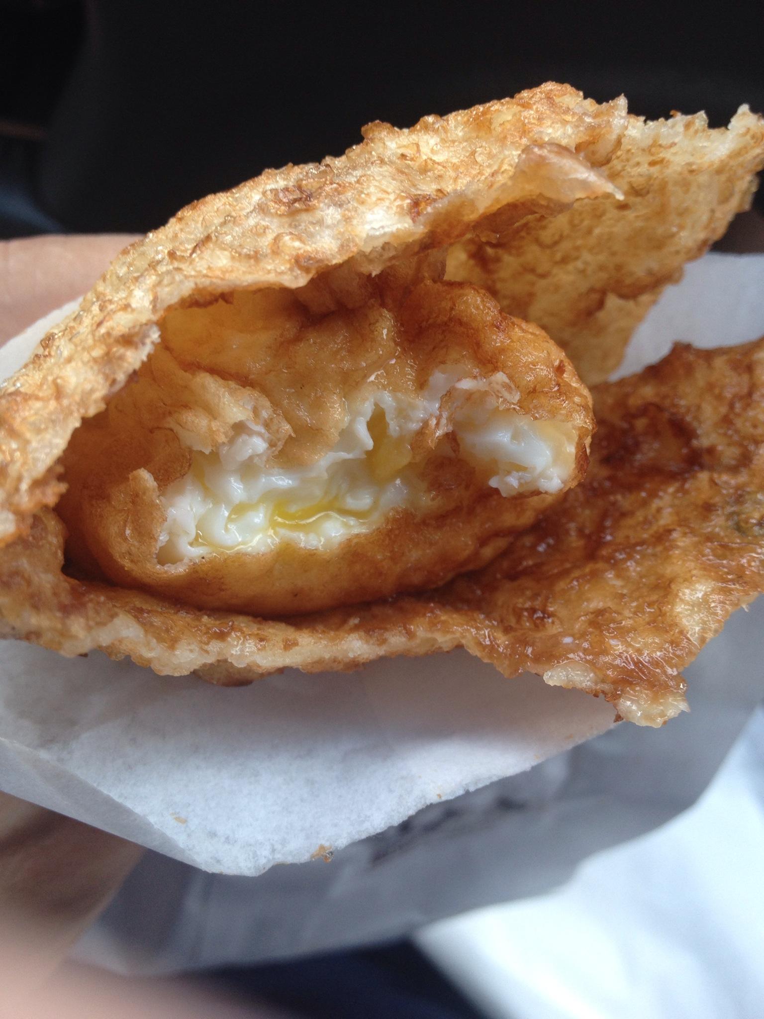 [台南市北區]酥脆又爆漿的花蓮老牌炸彈蔥油餅