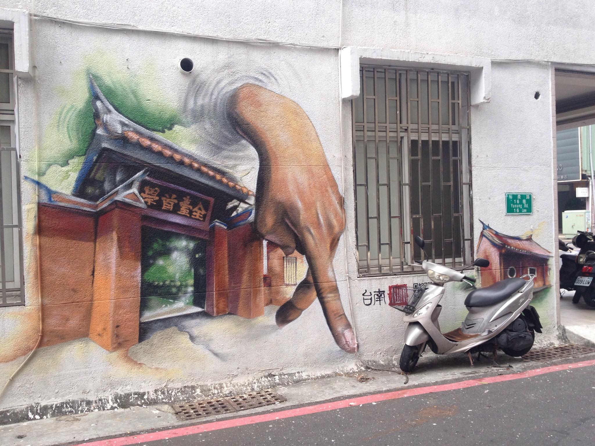台南市區塗鴉牆壁畫地點介紹(一)